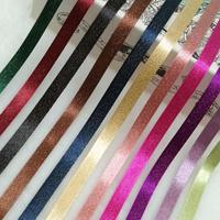 Korea Ribbon Double sided Gold Weft Belt Hair Accessories diy Material Packaging Garment Accessories Shiny Solid Color Glitter R