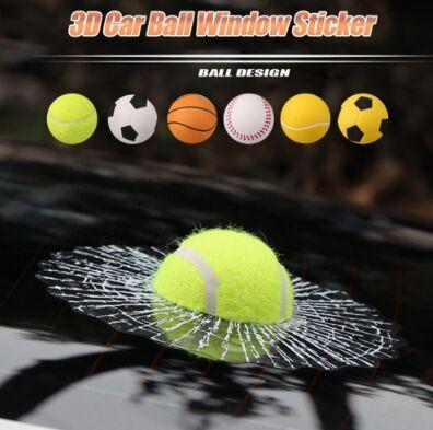 Car 3D Sticker Window Full Body Stickers Crazy Prank Ball Hi