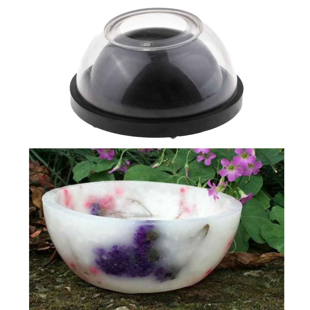 Plastic Bowl Shape Candle Making Mold Soap Making Mould for DIY Dried Flower Wedding Party Scented Tealight Candle