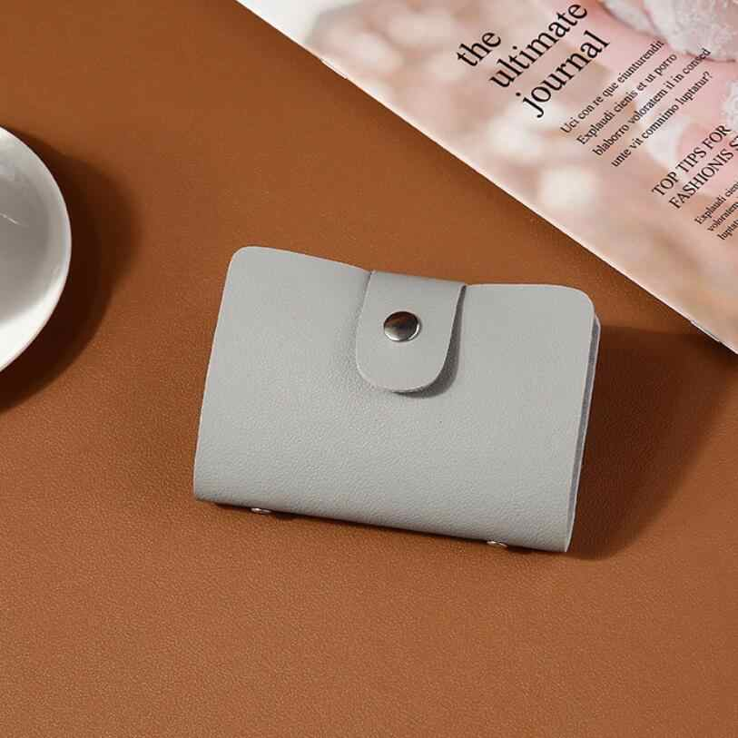 ユニセックス 24 ビットファッションレザー Id カードケース毎日ビジネスカードホルダープロテクタークレジットカードパスポート財布男性のための女性