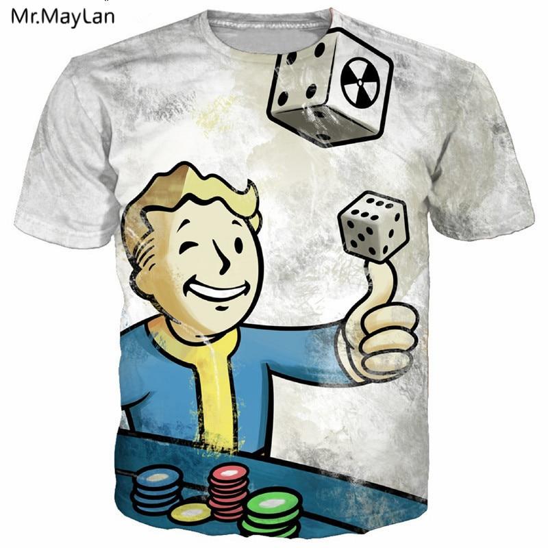 Man Playing Gamble Finger Dice Print 3D T-shirt Men/Women Hiphop Tee t shirt Hipster Streetwear Boy Tshirt Clothes Oversize 5XL