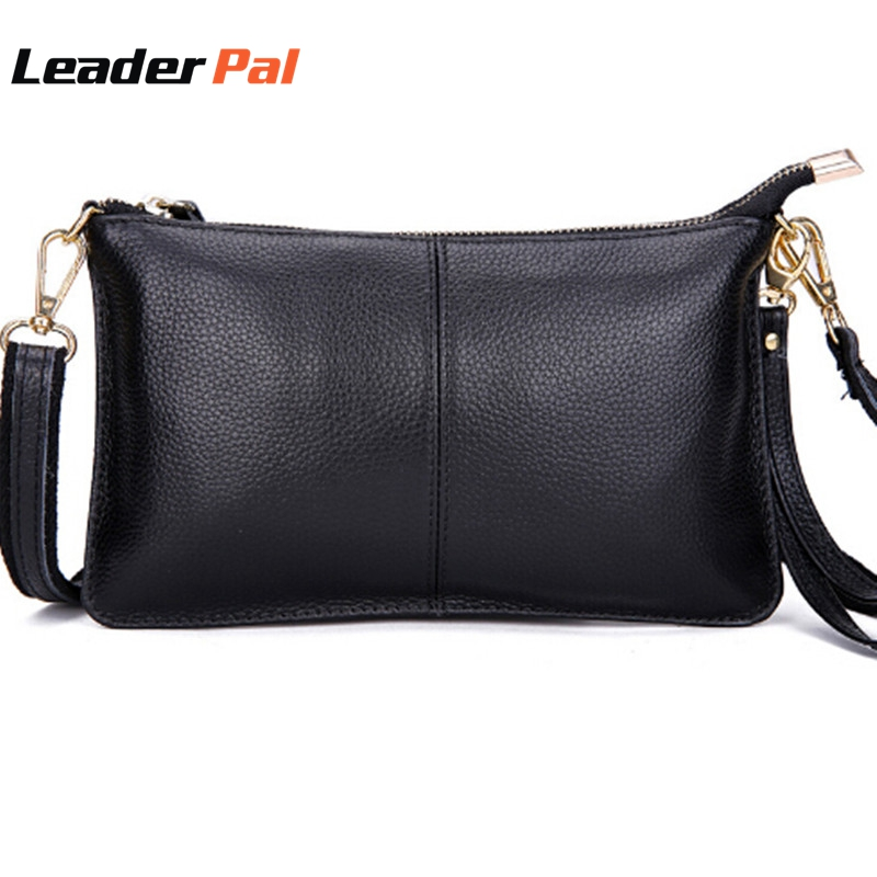 16fd54594f8 Genuine Leather Women Messenger Bags Evening Clutch Bag Fashion ...