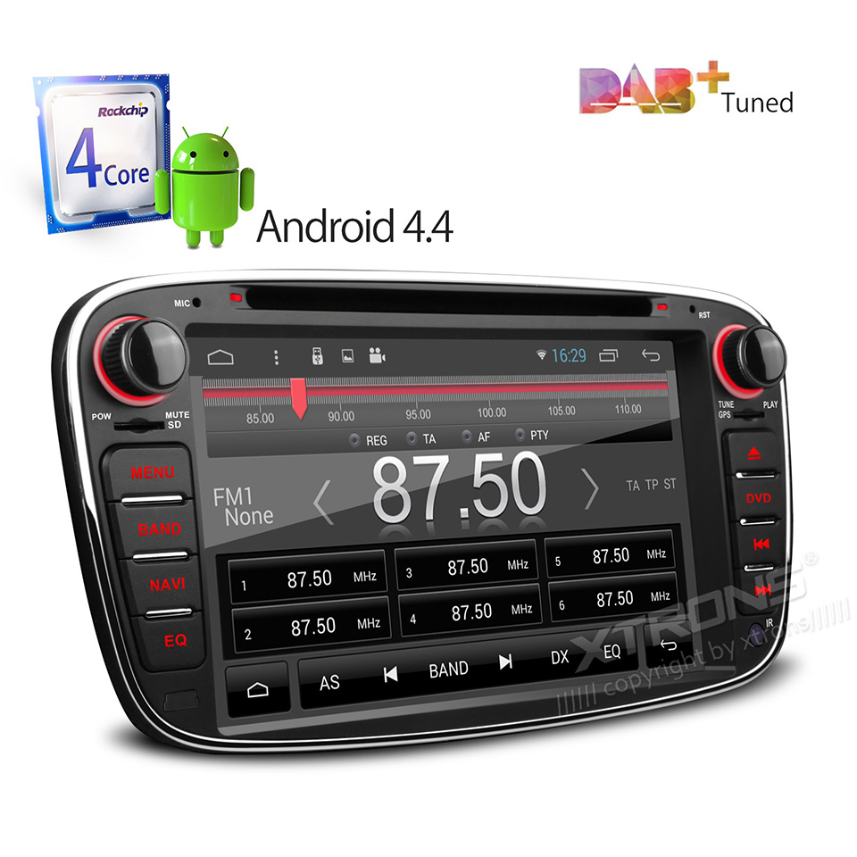 car dvd player android 4 4 quad core gps for ford focus. Black Bedroom Furniture Sets. Home Design Ideas