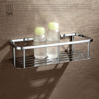 BULUXE Bathroom Accessories Corner Shelf,Brass Bath Shelf Chrome Finished Wall Mounted accessoire salle de bain HP7730