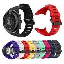 Bemorcabo Черный Красный Мягкий ТПУ ремешок для часов Ремешок