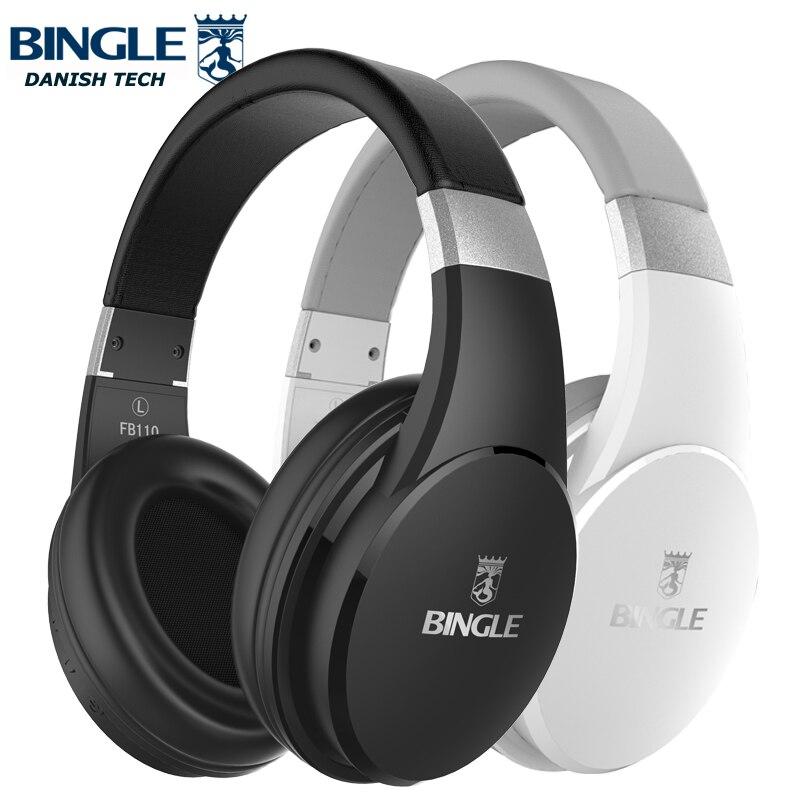 Bingle FB110 NOUVEAU Sur L'oreille Antibruit Blanc Noir Bluetooth Casque Sans Fil En Cours D'exécution bluetooth Casque Audio Auriculaire