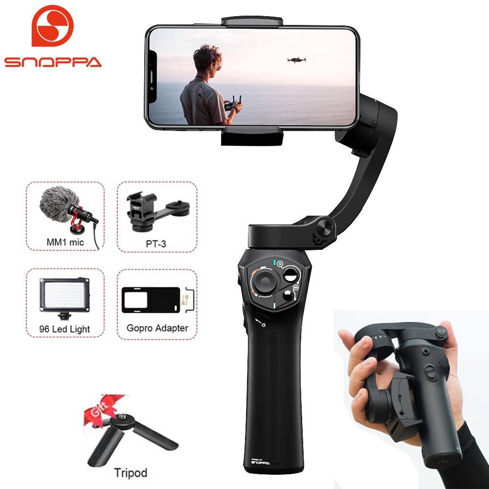 Snoppa Atom 3-Eixo Cardan Handheld Estabilizador de Smartphones para o iphone X Gopro 6 7 Ação Cam PK Suave 4 DJI OSMO 2 Móvel do Bolso