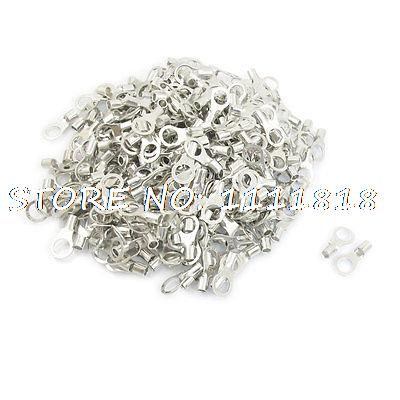 цена на RNB8-10 Ring Type Non-Insulated Spade Cable Terminals 500pcs for AWG 8