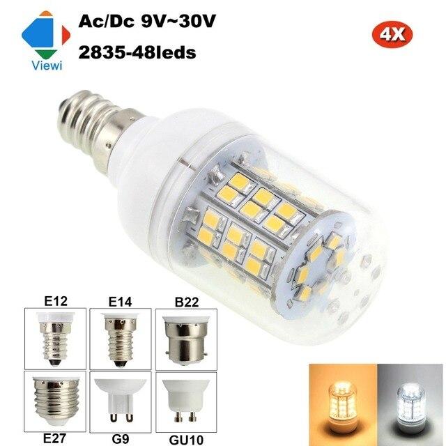 viewi 4x lampada led bulb e12 e14 e27 b22 g9 gu10 12 volt bulbs