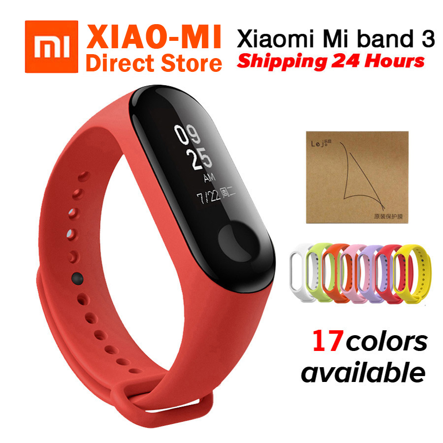 Xiaomi Mi band 3 MiBand 3 Fitness Tracker Heart Rate Monitor 0 78 OLED Display Touchpad
