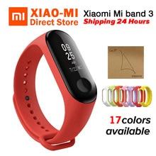 Xiaomi mi группа 3 mi Группа фитнес трекер сердечного ритма мониторы 0,78 »oled дисплей Touchpad Bluetooth 4,2 Смарт Браслет Android