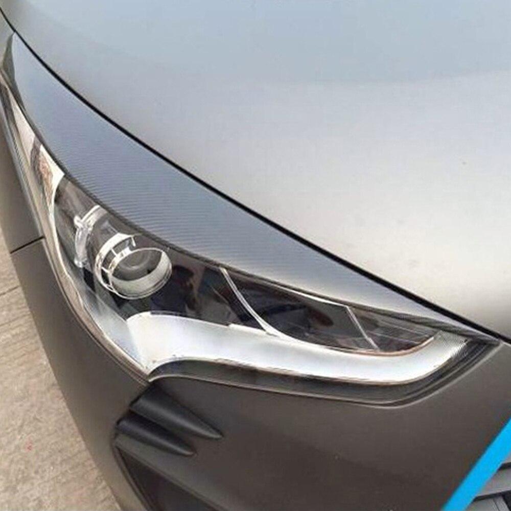De Carbono Estilo Do Carro Para Hyundai Veloster Farol