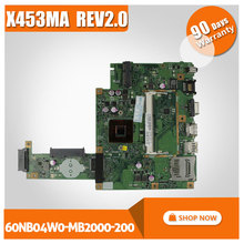 Original New X453MA X403MA motherboard for Asus Main board REV2.0 DDR3 100% Tested 60NB04W0-MB2000-200