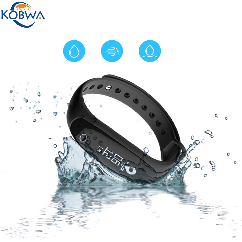 Smart Bracelet IP67 Waterproof Bluetooth Heart Blood Oxygen Pressure Pedometer Sport Fitness Activity Tracker Wearable Wristband