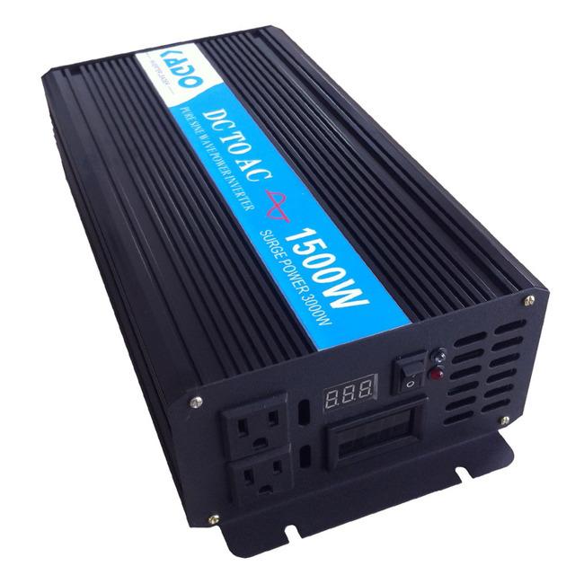 Digital LED Display 1500w 24v 230v Car Inverter dc ac Voltage Converter Pure Sine Wave Solar Power Generator Home Power Supply