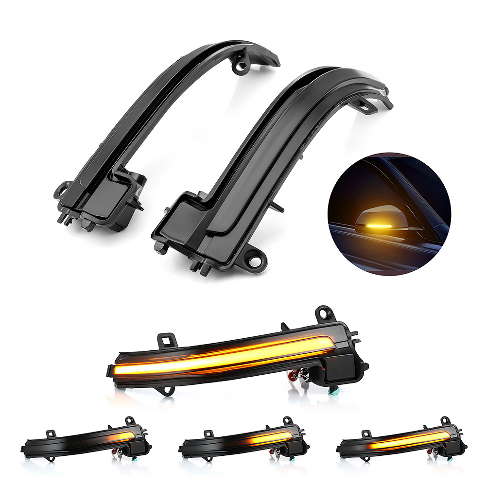 Dynamic Blinker LED Turn Signal For BMW 1 2 3 4 Series X1 E84 Smoked Side Mirror Sequential Blink Turn Signal Lights For BMW