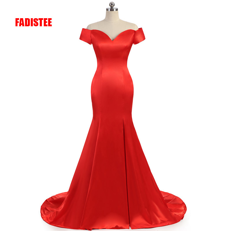 FADISTEE New arrival prom party Dresses Vestido de Festa dress long style satin dress mermaid real