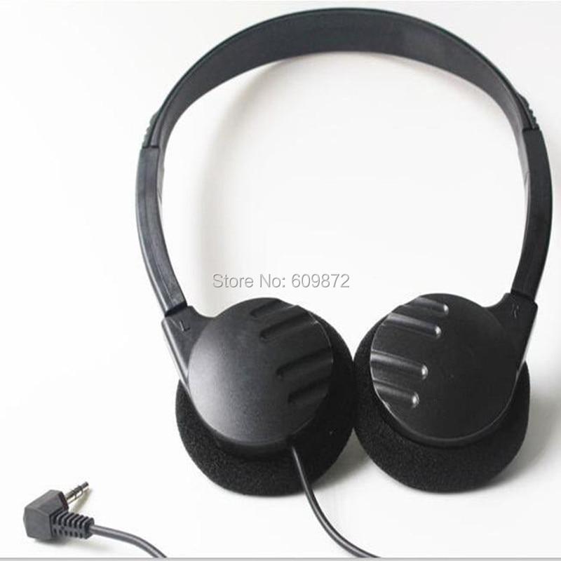 Linhuipad 50 pack of Disposable headband headphone cheap L jack plug headset 1.2M cord for PC,pad, MP3,phones