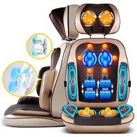 6d multifunción silla de masaje Cojines Cuerpo masaje cervical espalda máquina vibración shiatsu rodillo Almohadas Masajeadores de cuello caderas masajeador