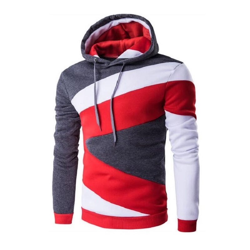 Hottest 2017 Fashion Mens Patchwork Hoodies Sweatshirts Design Fleece Hoodies Men Sportswear Mens Tracksuits Men Hooded Jackets