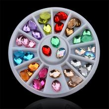 цена на Glitter Nail Art Rhinestones 3d Design Mix Colors Acrylic UV Gel Nail Tips Gems Decoration,DIY Nail Accessories