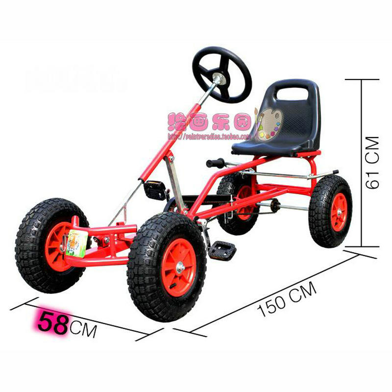 Us 243 18 17 Off 16 Inch Wheel Adult Go Karts With Hand Brake Adult Pedal Go Kart Can Load 100kg In Go Karts From Sports Entertainment On