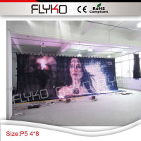 4x8m Free Shipping Led Dot Matrix Pixel Light Video Curtain