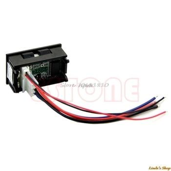 New LED Amp Dual Digital Volt Meter Gauge DC 100V 10A Voltmeter Ammeter Blue + Red Consumer Electronics 2