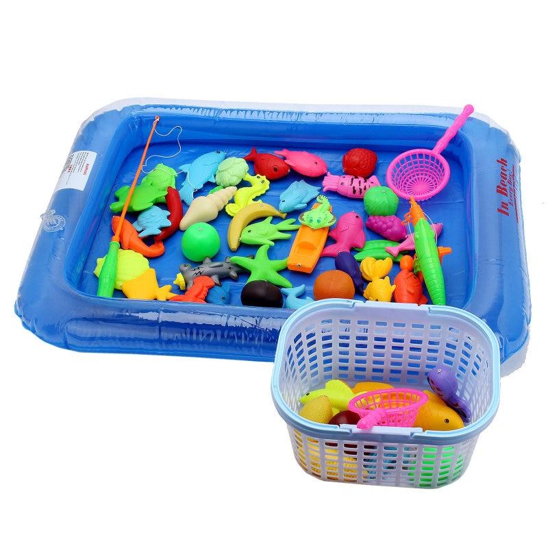 Baru Ikan Kolam Permainan Pancing Magnet Batang 3D Ikan Model bayi Mandi  Mainan Outdoor Menyenangkan Mainan Anak anak + Kolam Renang + Kecil  Inflator di ... 22faa77a69