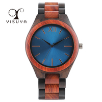 YISUYA Wooden Watch Full Wooden Watches Man Creative Business Bracelet Analog Nature Wood Quartz Wristwatch Male Clock Xmas Gift