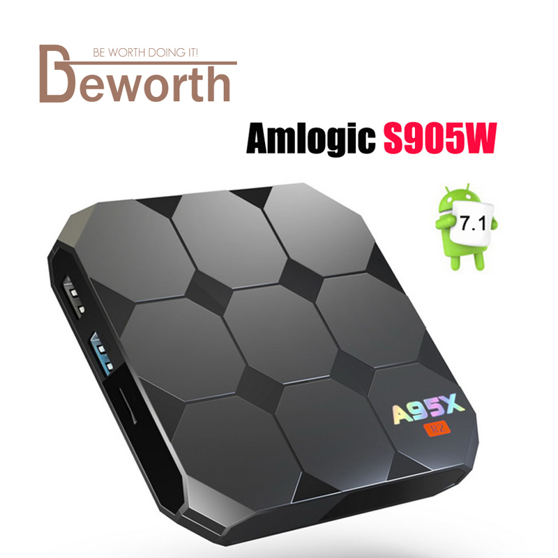 Amlogic S905W TV Box A95X R2 Quad Core 2GB 16GB Android 7.1 Boxes TV 4K IPTV Box Support Netflix Youtube Media Player