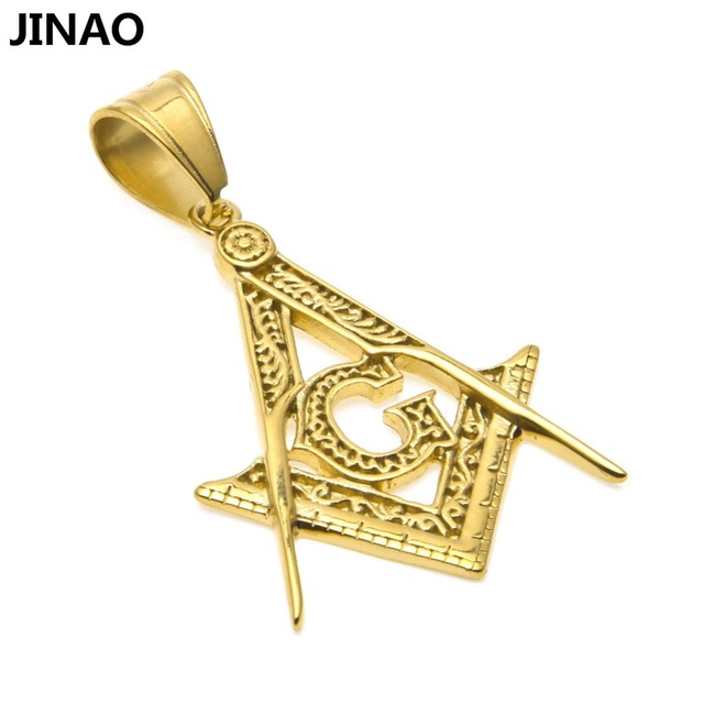 Jinao hip hop new fashion men women charm ag masonic gold color jinao hip hop new fashion men women charm ag masonic gold color plated mini pendant necklace aloadofball Image collections