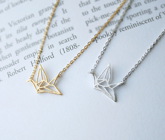 462e2d2517092 US $7.99 |5PCS Cute Origami Crane Necklace Paper Crane Necklace Tiny Little  Swallow Baby Bird Necklaces for Womens Jewelry-in Pendant Necklaces from ...