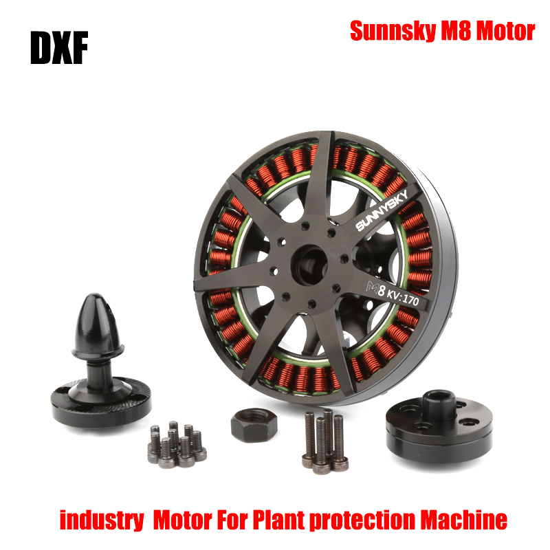 2017 DXF Oringal Sunnysky M8-8108 100KV 135KV 170KV 200KV Brushless Motor  for RC Multicopters Plant Protection Machine UAV 2017 dxf sunnysky x2206 1500kv 1900kv outrunner brushless motor 2206 for rc quadcopter multicopter