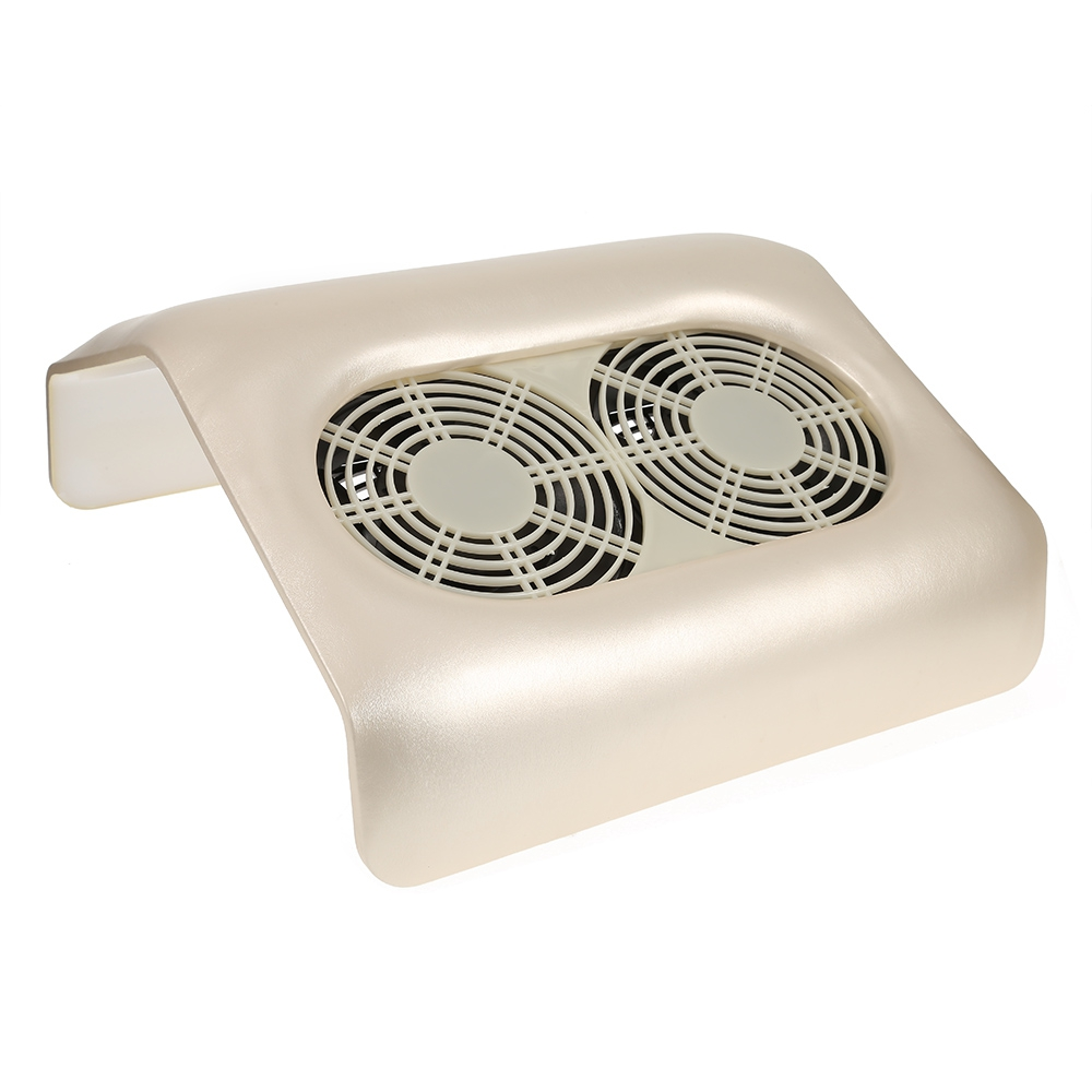 48W Double Strong Fans Nail Dust Suction Collector with Non-woven Dust bag for Manicure Machine Nail Art Equipment EU plug woven bag with double handle