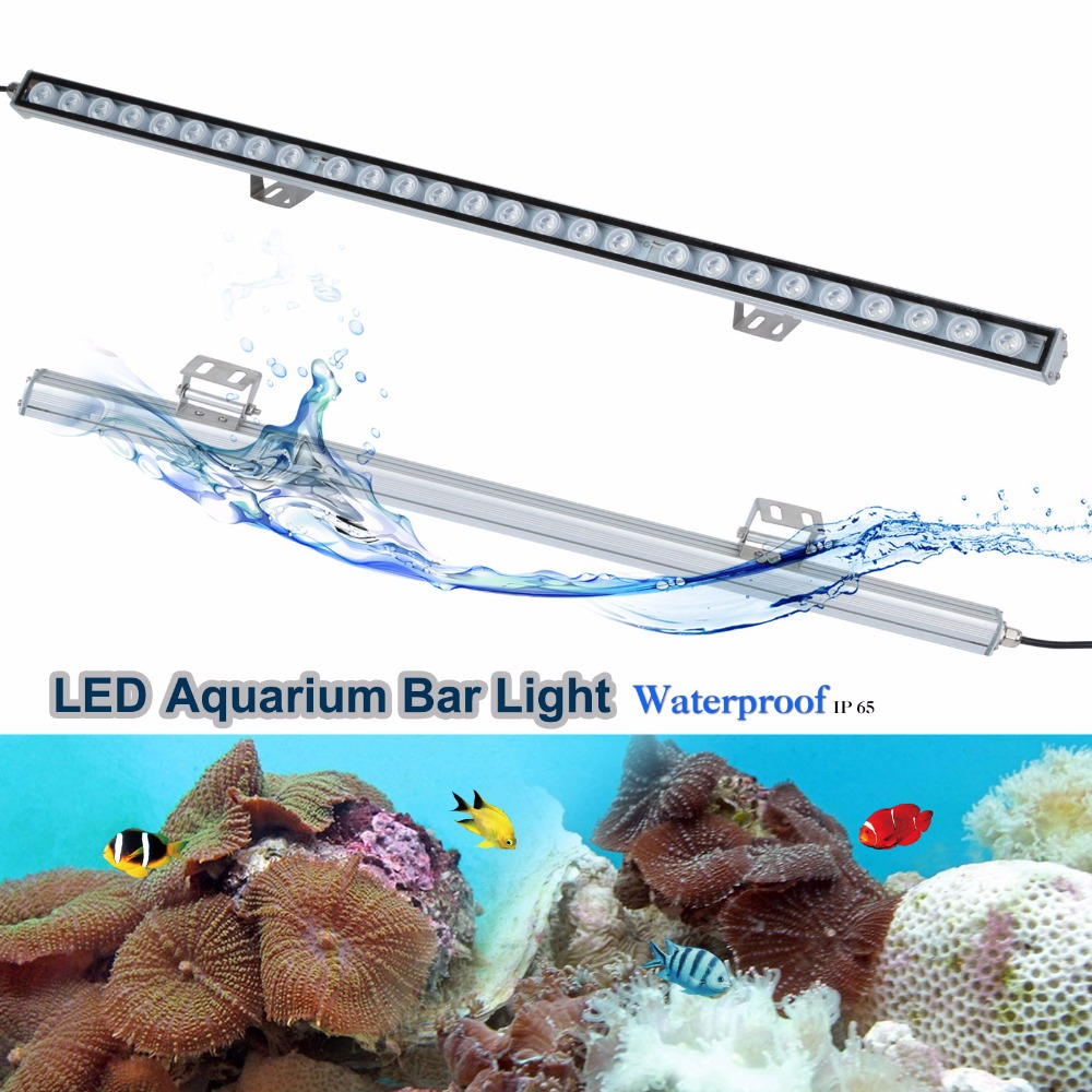 81w LED aquarium light Strip bar Blue light for Reef coral led Lamp High quality 27 LED Chips with lens White Blue UV Fish tank 5 30 pcs lot 1m aluminum profile for led strip milky transparent cover for 12mm pcb with fittings embedded led bar light