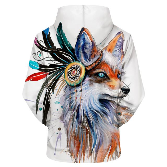 FOX ART 3D HOODIE