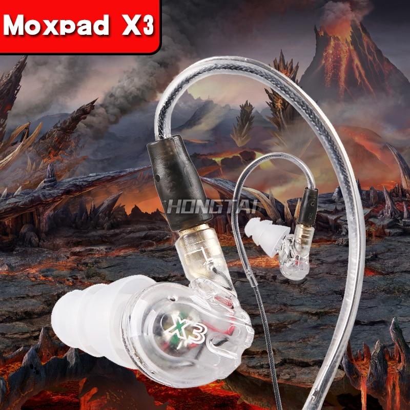 Moxpad X3 filaire sport in-ear stéréo musique écouteurs à isolation sonore casque HIFI antibruit Basse Casques avec Microphone