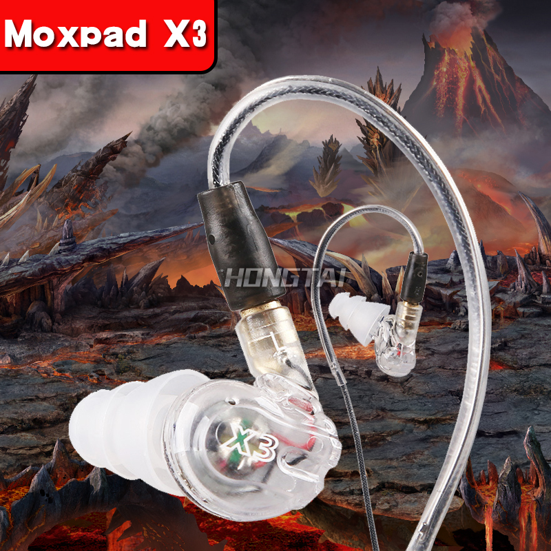 Moxpad X3 wired sport in-ear stereo music earphone sound isolating headphone HIFI noise Cancelling Bass Headsets with Microphone kz zs1 supr bass stereo sound music earphone noise cancelling earphone in ear style wired earphone with mic for mobile phone