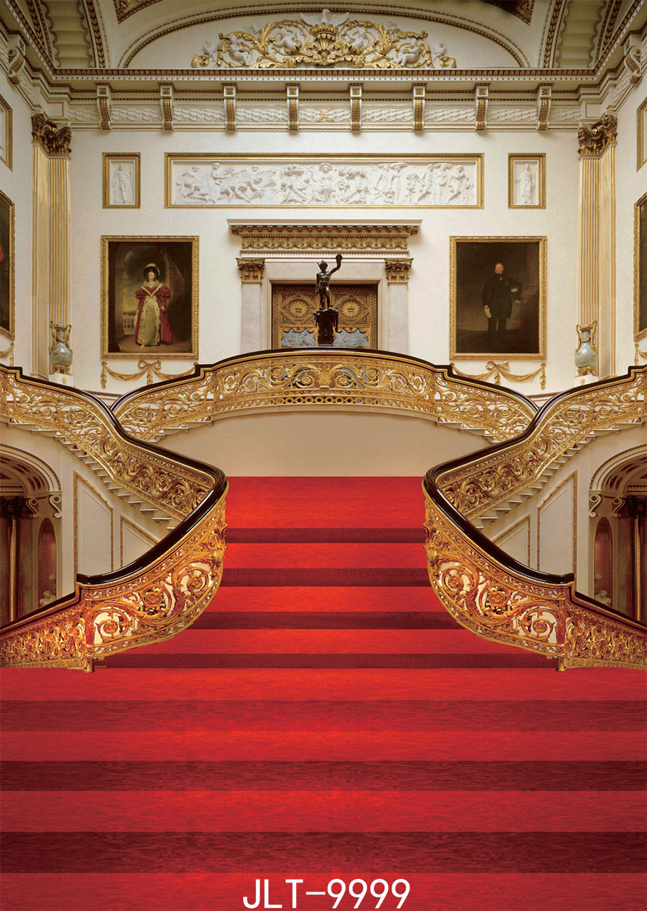Sjoloon 5x7f wedding photo backdrops classical background hall and stairs with red carpet photo - Red carpet photographers ...