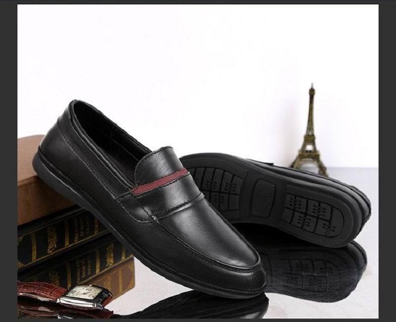 Redonda Deslizamento 45 Mocassim Homem Mens Nova De Sapatos Preto Sobre Lazer Apartamentos Errfc Moda Tendências marrom Primavera Negócios Condução Preto Toe Britânico vAxBH