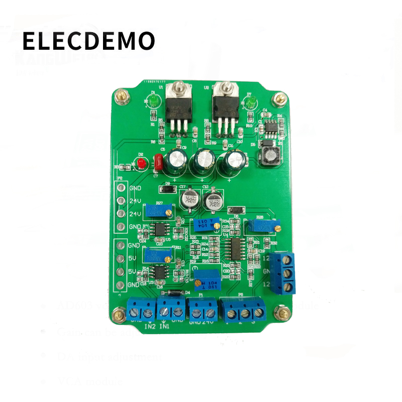 Image 4 - AD620 module High Gain Instrumentation Amplifier AD620 Transmitter Voltage Amplifier Module Dual Differential Output-in Demo Board Accessories from Computer & Office