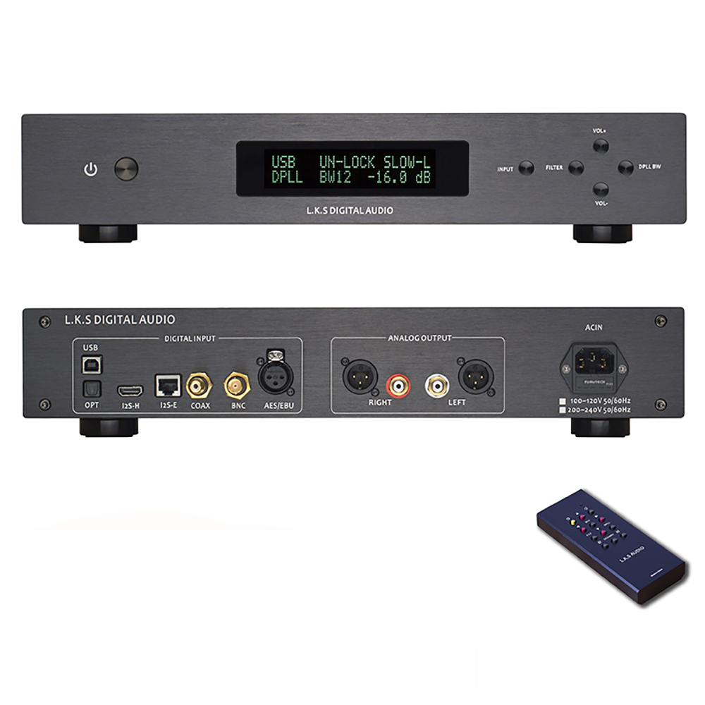 L.K.S Audio LKS MH DA004 Dual ES9038pro Flagship DAC DSD Input Coaxial BNC AES EBU for DoP USB I2S Optical Audio Decoder