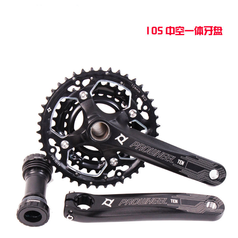 Q712 High quality hollow one tooth 42T aluminum alloy crank 30 speed 10 mountain car tooth plate Bicycle Crank & Chainwheel mountain bike crank set bicycle crank set sprocket 22 32 44t bicycle crank set hollow tooth plate 9 27 speed tooth plate