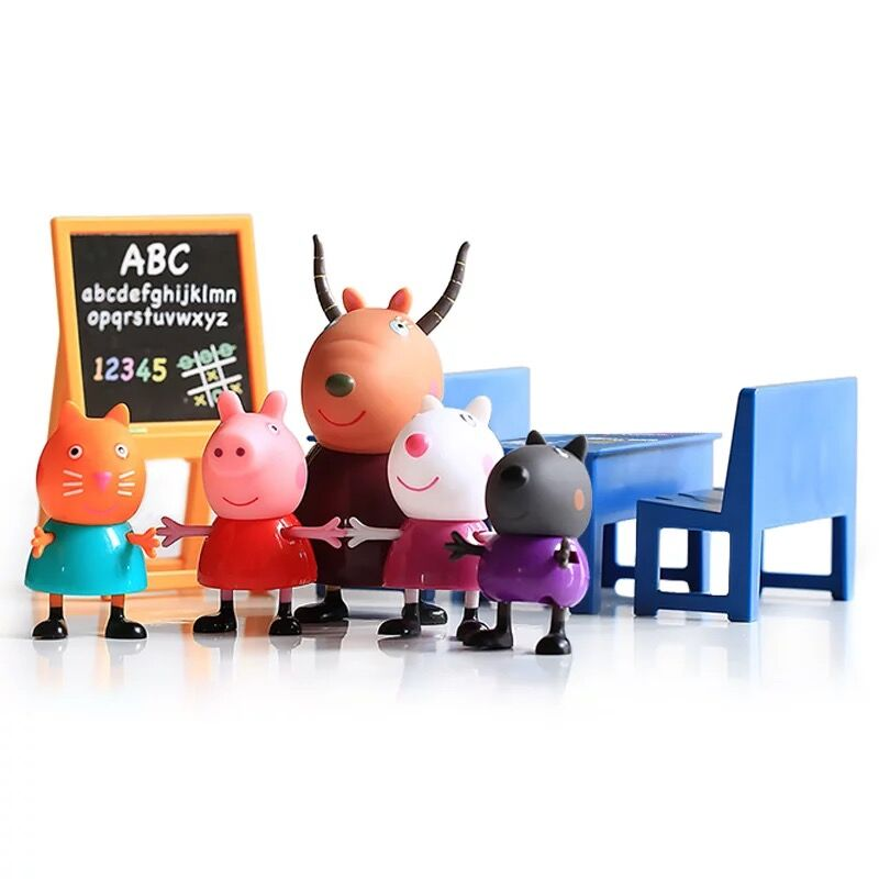 Genuine Peppa Pig Classroom Playset With 5 Figure Early ...