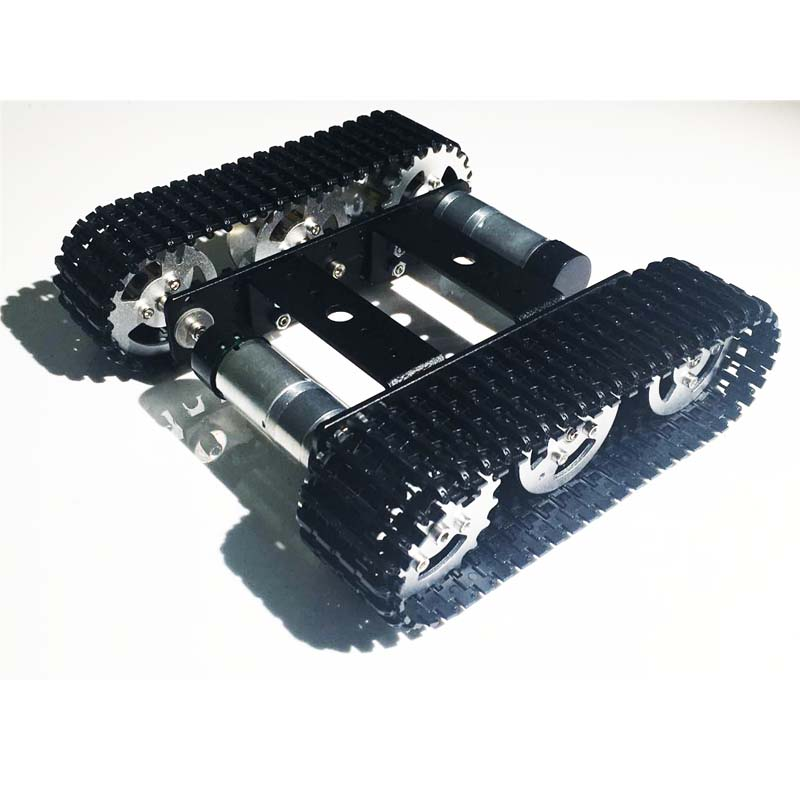 1pcs DIY Mini T100 Tracked Robot Metal Tank Chassis Intelligent Car Race Design for Arduino #RBP070 цены онлайн
