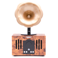 Retro Design Wireless Bluetooth Speaker Mobile Phone Connected Music Player U Disk Audio USB Disk TF Card Phonograph Speakers