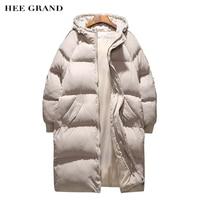 HEE GRAND 2018 Long Style Coat Casual Thick Winter Jacket Men 2 Colors Warm GMen Jacket Oversize M~5XL MWM1694