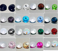 15PCS ELEMENTS Crystal Rivoli glass loose Beads 14mm Multicolor 15 colors