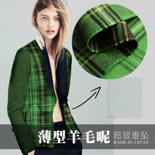 145cm classic plaid worsted wool fabric meter jacket suit wo